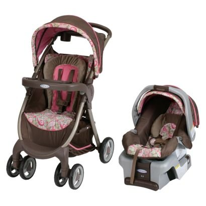Graco Fast Action Fold Quot Jacqueline Quot Gray Seat Brown