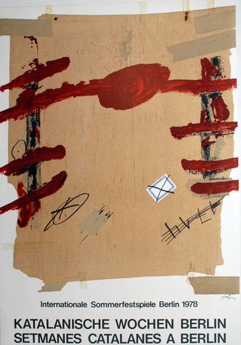 groß Tapies Ausstellung 1978 Poster Platte Signiert   eBay