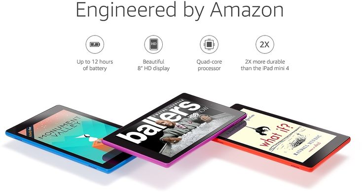 All-New Fire HD 8 - Amazon Official Site - Up to 12-hour Battery