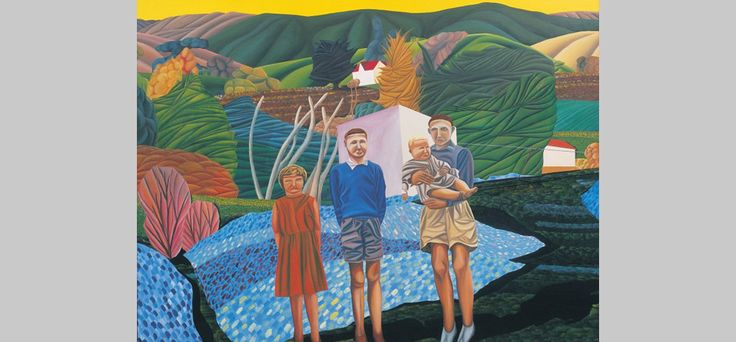 Jeffrey Harris Three Children at Okains Bay, 1975. Private Collection.
