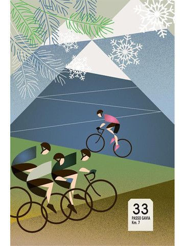 Passo Gavia - Cycling Poster - Emma Felton - Cycling Photography & Gifts