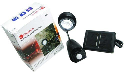 Garden / Outdoor 9 LED Solar Powered Security Light with Motion Sensor by Rinkit. $41.73