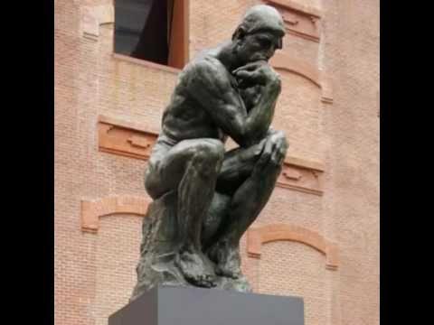 """""""O PENSADOR""""  - Escultura de bronze de Auguste Rodin"""