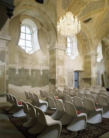 Verner Panton Chairs in St. Bartholomew's Church by Maxim Velcovsky