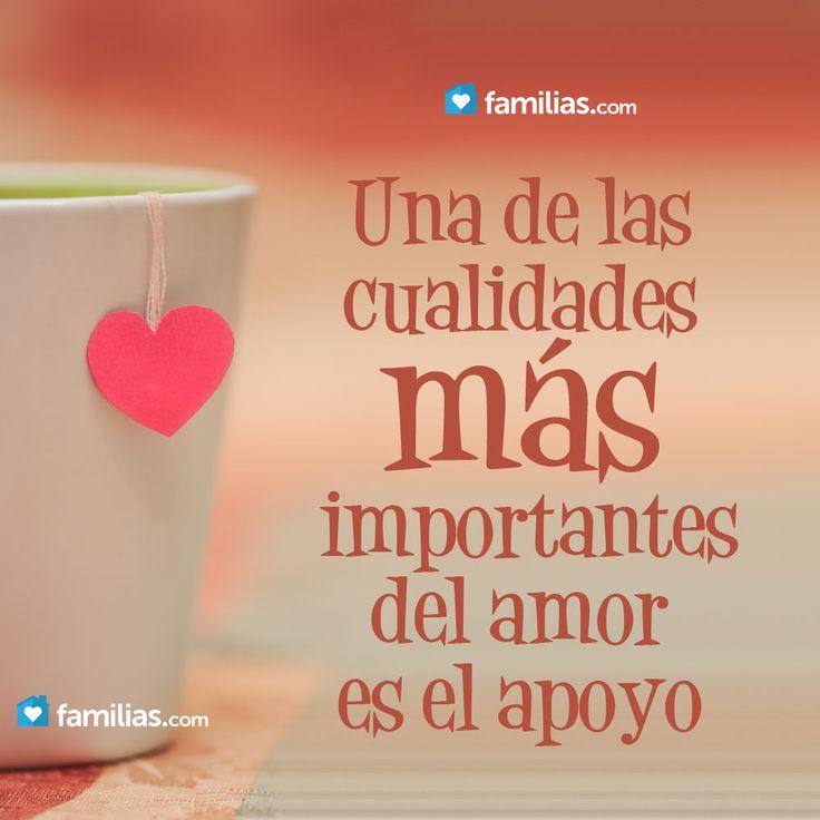Una de las cualidades más importantes del amor es el apoyo