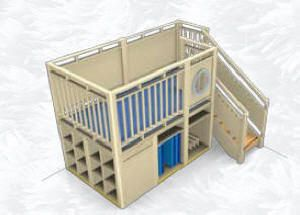 EXCITING!!! NEW !!! Gemino Play Houses and Lofts including New Enclosed Wooden Lofts, New Climbers with Rock Walls and More, Infant, Toddler...