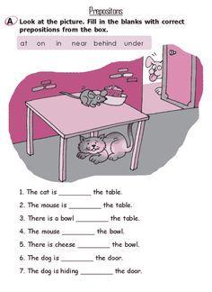 Grade 2 Grammar Lesson 16 Prepositions