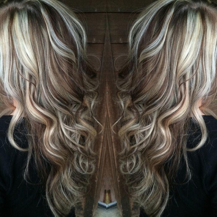 White Stain Light Brown: Blonde Highlights With Chocolate Brown Lowlights