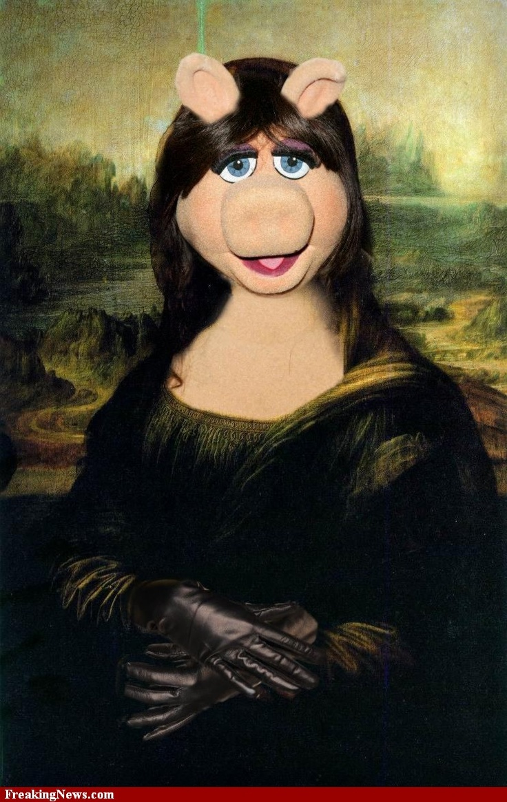 Miss Piggy as the Mona Lisa