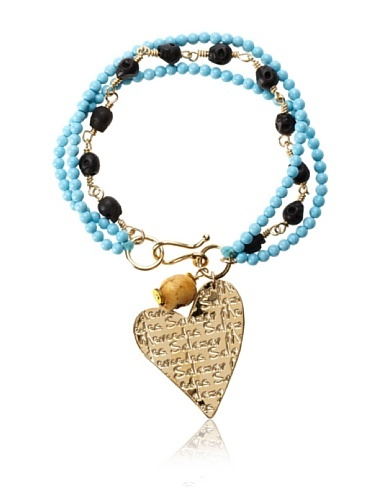64% OFF Mercedes Salazar Heart Charm Bracelet, Turquoise