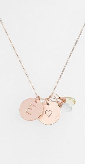 Initial charm necklace with heart http://rstyle.me/n/savqen2bn