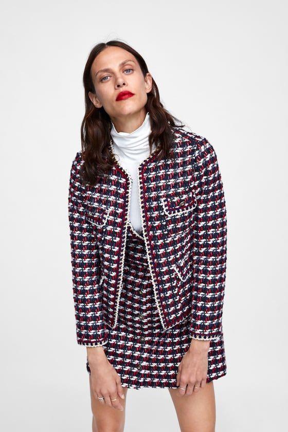 b8c011db Textured blazer with frayed trims | Spring / Summer 2018 | Blazer ...