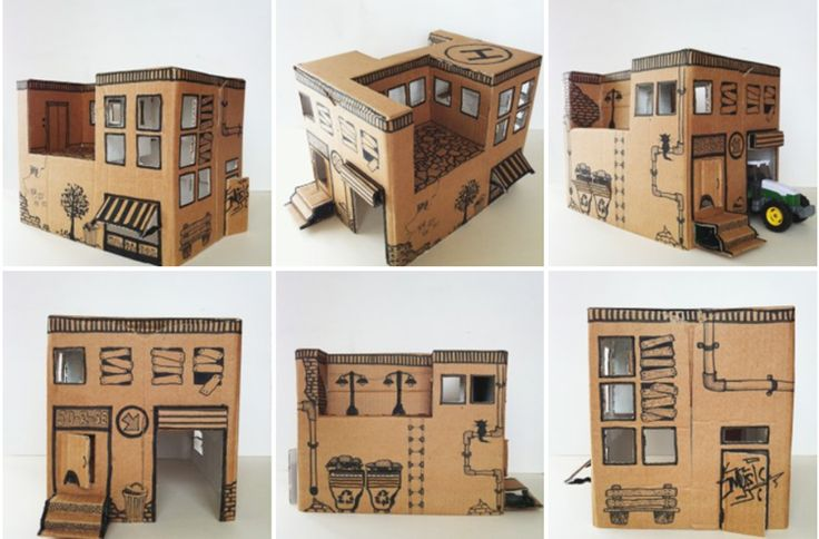 Instruction from Mom: how to make a simple toy house from a cardboard box | DIY is FUN