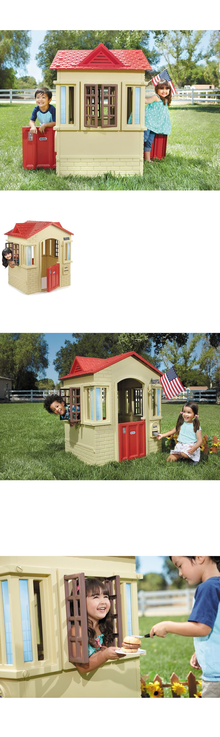 Permanent Playhouses 145995: Patio Playhouse Child Fun For Kids Outdoor Backyard Little Tikes Cape Cottage -> BUY IT NOW ONLY: $468.15 on eBay!