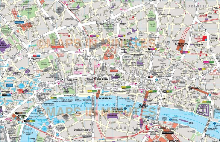 Map London City Deluxe London City Map In Illustrator Editable Vector format