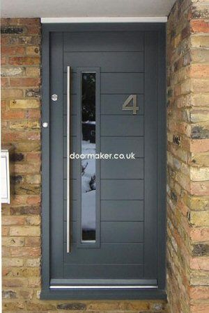 contemporary door downpipe grey