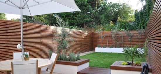 garten design - moderne coole garten gestaltung im hinterhof, Terrassen ideen