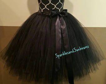 FULLY LINED Solid Black Adult Tutu** Halloween Orders Available **, Bridal Tutu, Bachelorette Tutu, Adult Tulle Skirt  Bridesmaid Tutus