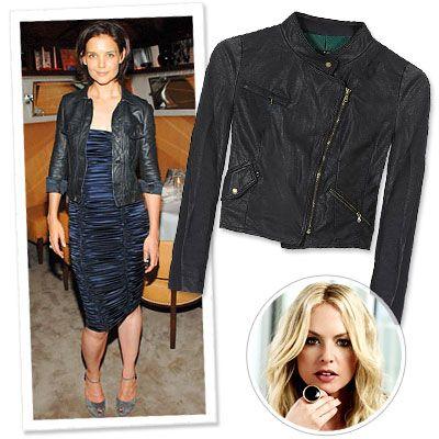 Rachel Zoe siempre recomienda una chaqueta de piel negra, ve por las cortas!