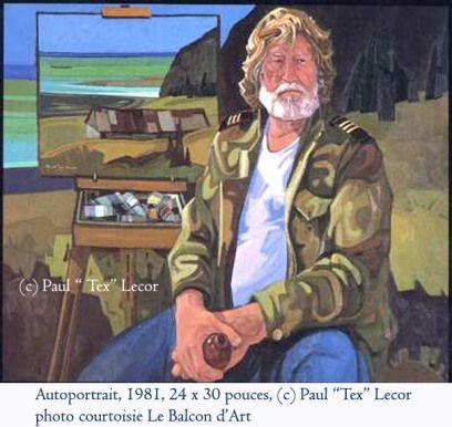"""Paul """"Tex"""" Lecor, Autoportrait 1981"""