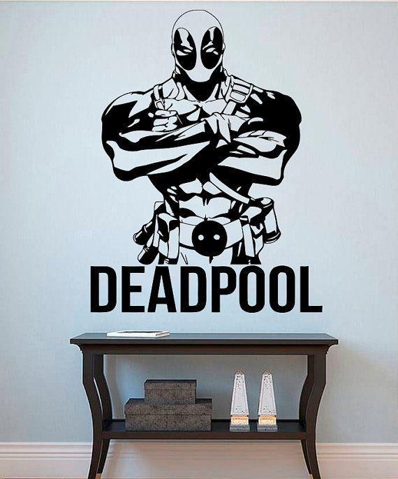 Deadpool Wall Vinyl Decal Deadpool Wall Vinyl by kellywallstickers