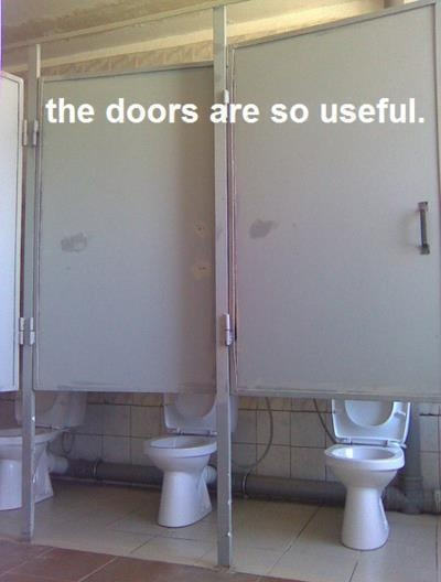 Whoever did those doors got fired.