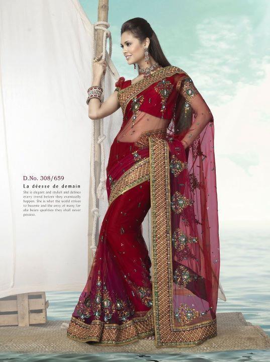 Sari. Perfect Red