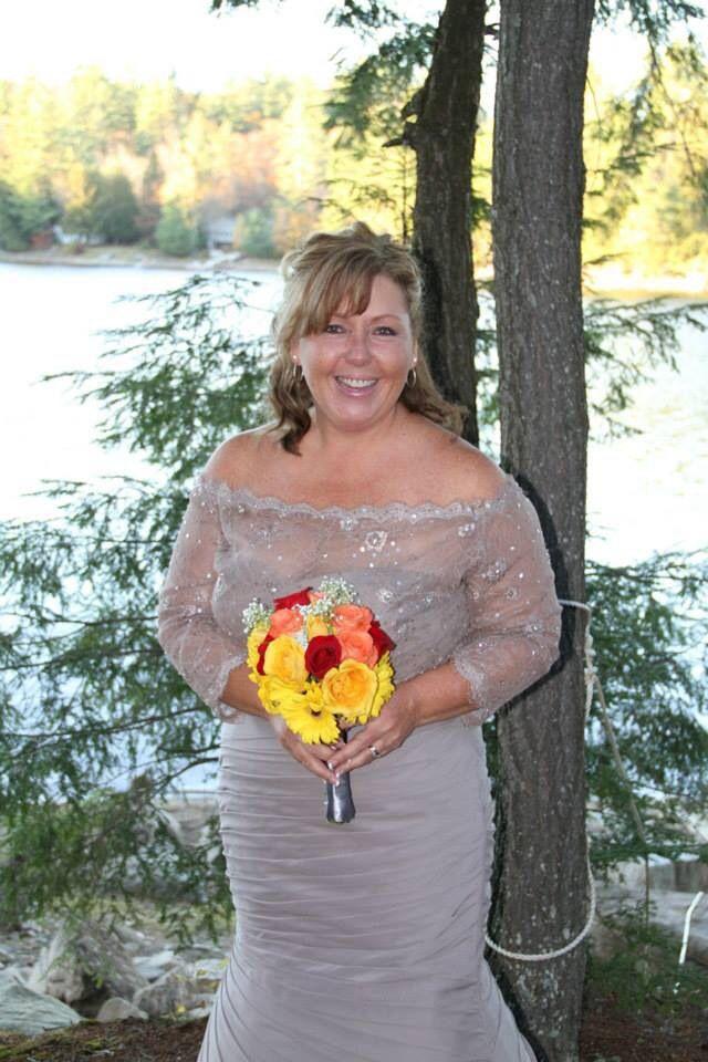 Such a happy bride!