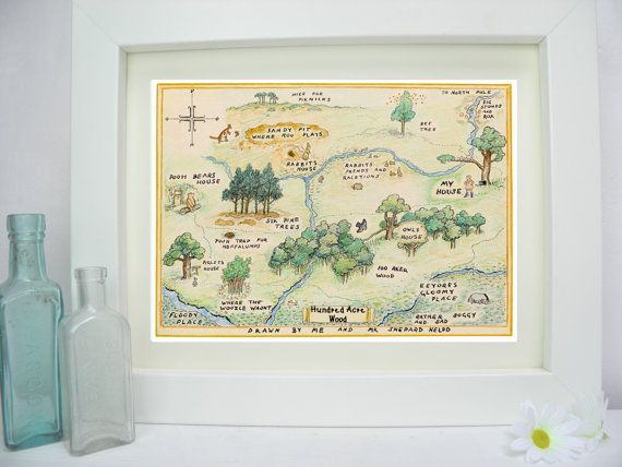 Winnie the Pooh Hundred Acre Wood Map Classic by TheSewingCroft, £2.00