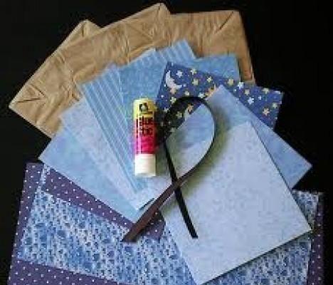 Album scrapbooking con sacchetti di carta