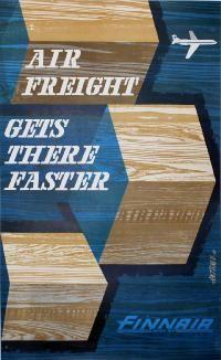 Airline/Aviation Poster: Finnair  , Country: Finland , Artist: Juha Anttinen
