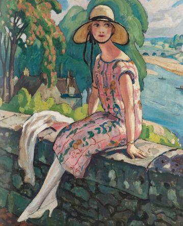 Paining by Gerda Wegener - possibly depicting Lili Elbe, but not sure