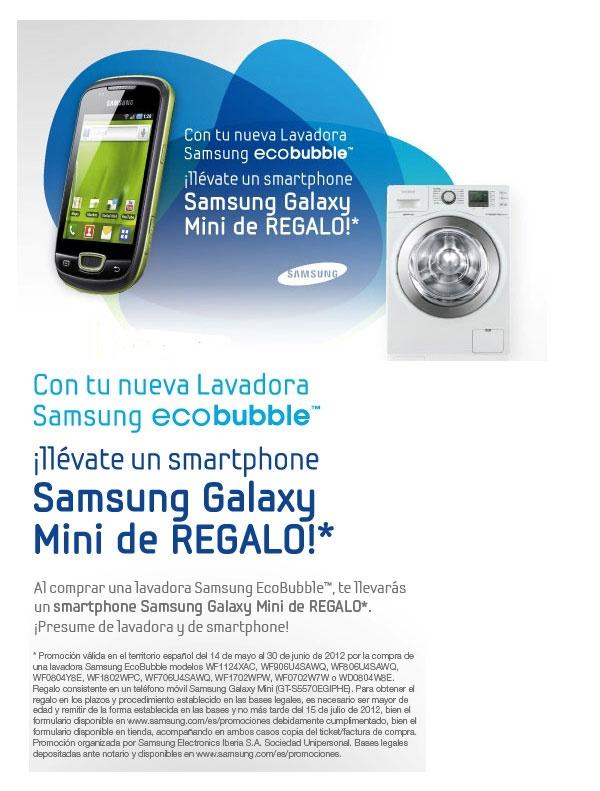 Galaxy Mini de Regalo al Comprar Lavadora Ecobubble