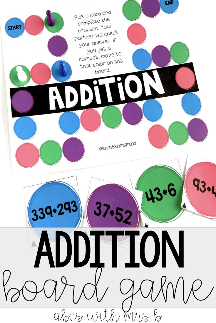 I love using math games during my centers and stations for students to practice their math strategies. I made this subtraction board game to help students with double and triple digit subtraction skills. It's a great way to encourage mental math skills as well!