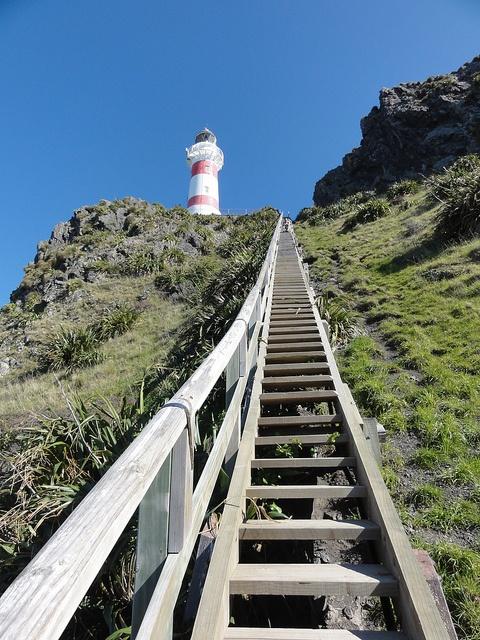 That's a lot of steps! by clara & james, via Flickr. - Cape Palliser lighthouse, Wairarapa, New Zealand.