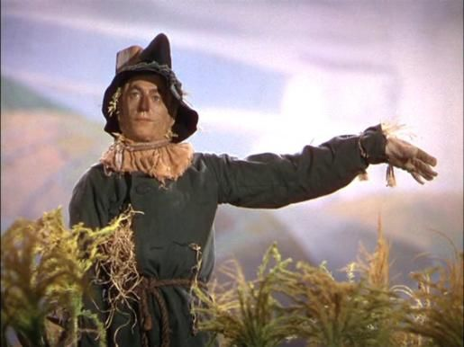 "Ray Bolger as The Scarecrow in ""The Wizard of Oz"""