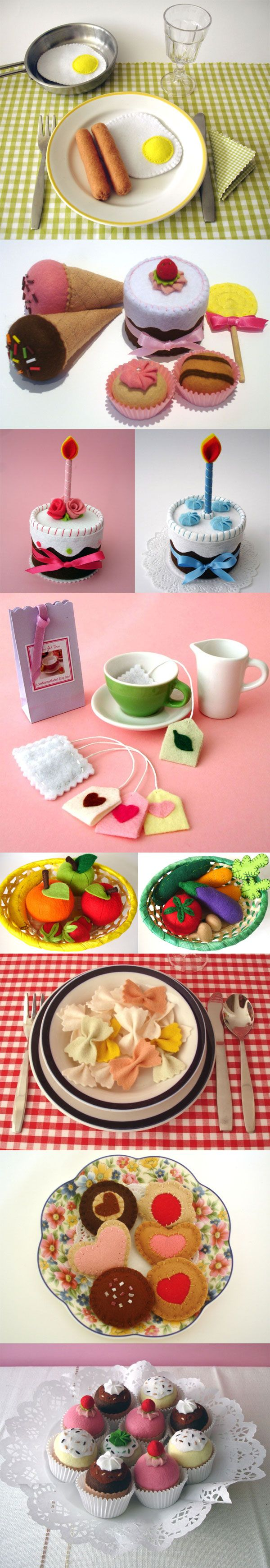 More felt food goodies! So easy to make, and so cute!