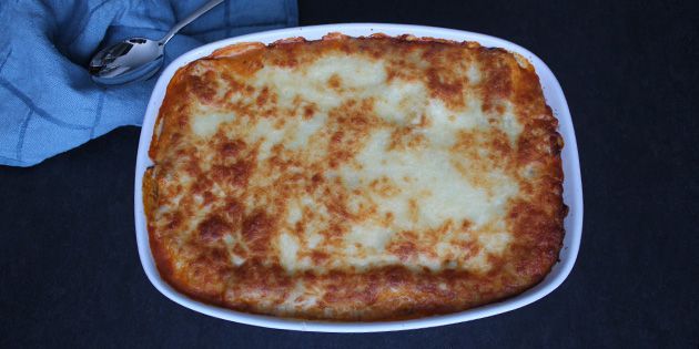 Den her lækre vegetarlasagne er den bedste lasagne, jeg længe har smagt. Den er fuld af smag, og så er den smeltede ost på toppen selvfølgelig prikken over i'et.