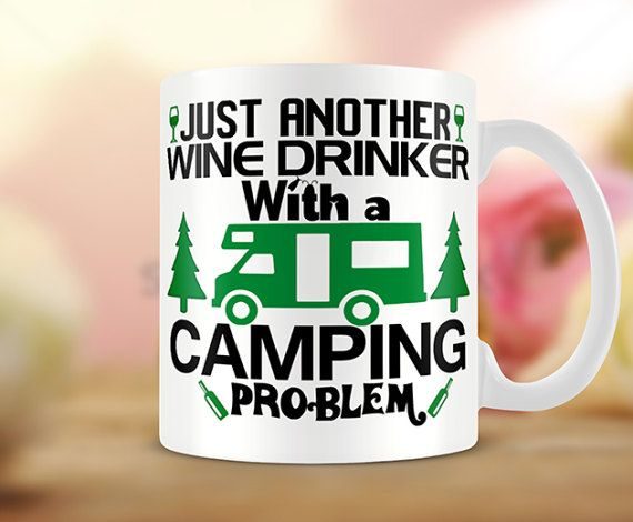 Camper Van Mug  Just Another Wine Drinker with a by MugandMore
