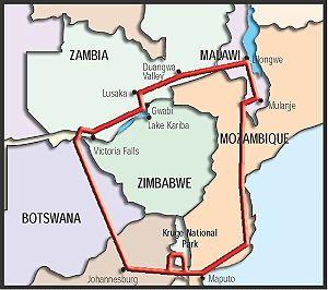 Grand Tour de l'Afrique Australe - Afrique du Sud, Botswana, Chutes Victoria, Zambie, safari en canoé sur le Zambèze, Mala... 24 jours 2000€ hors vol