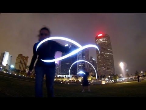 Very cool light painting technique that you can do with a Go Pro Hero 3.