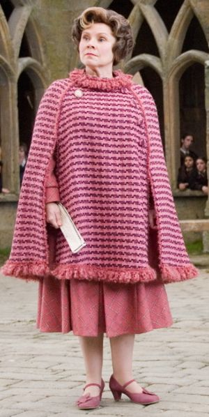 So evil! She played the role of Dolores Umbridge to perfection.