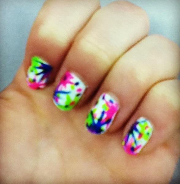 Paint splatter nail art nails gallery paint splatter nail art image prinsesfo Gallery