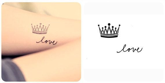 small crown tattoos - Google Search