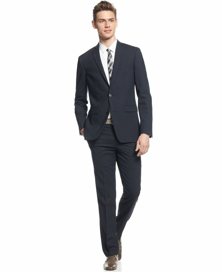 Bar III Suit Separates Navy Solid Extra Slim Fit - Suits & Suit Separates - Men - Macy's