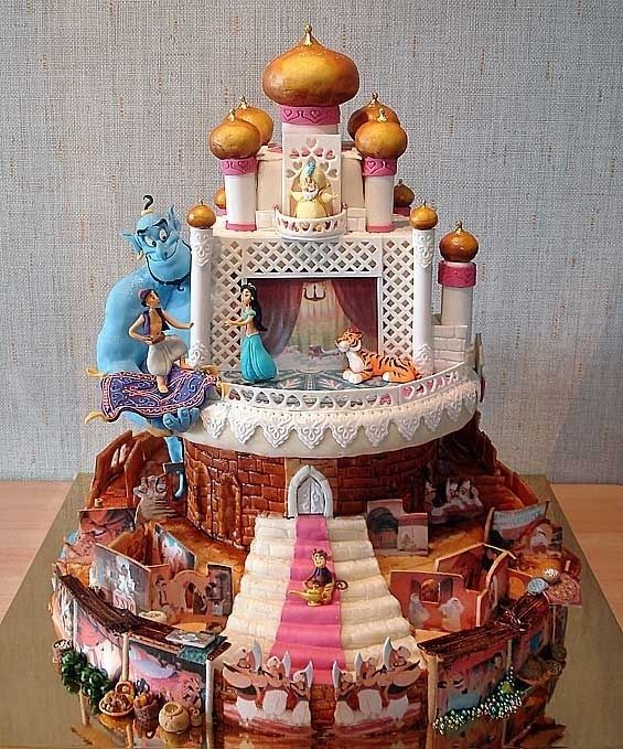 This Aladdin cake could show you the world� | These Disney Themed Cakes Are Going To Be The Best Things You've Seen All Day