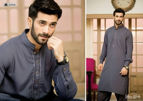 Aizaz Zafar's Men kurta shalwar are always of high quality fabric with beautiful neck and border designs.This is the Eid Ul Azha collection by Aizaz Zafar see complete collection below.