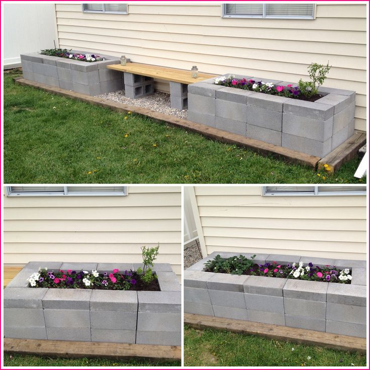40+ DIY Project Garden Cinder Block Ideas