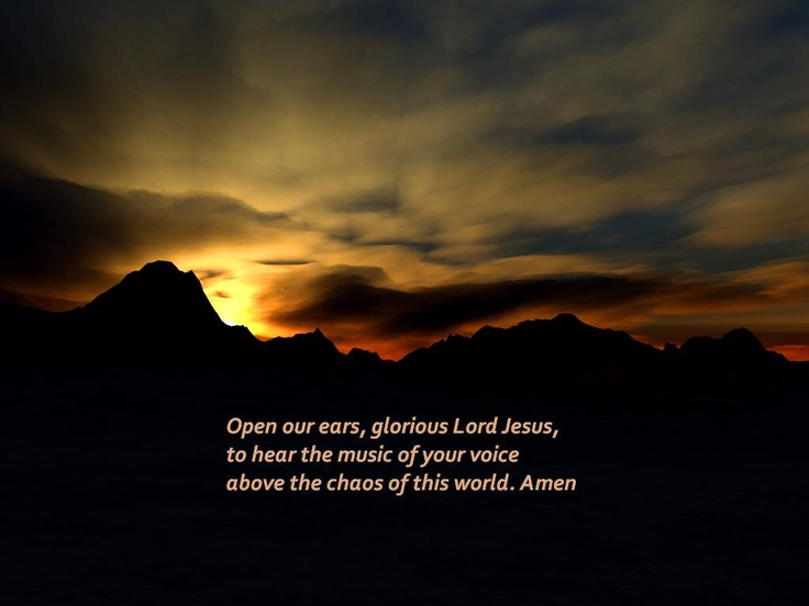 Open our ears ..