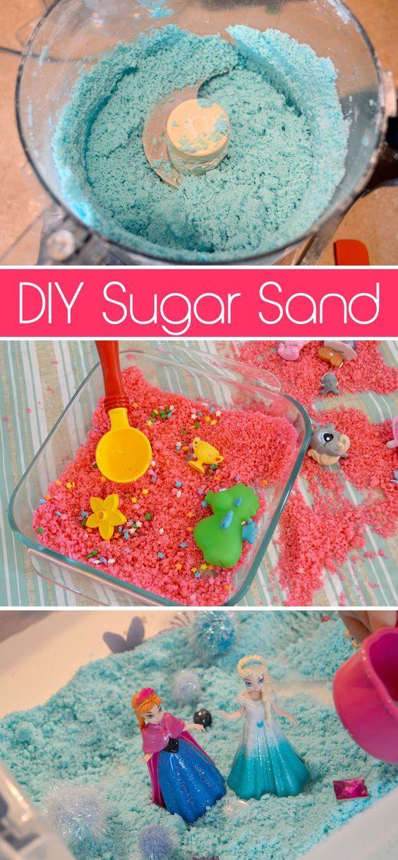 Fun sensory kids' activity - Sugar Sand!